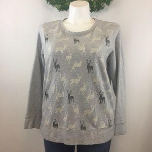 Style & Co Sport The Essential Sweatshirt Reindeer